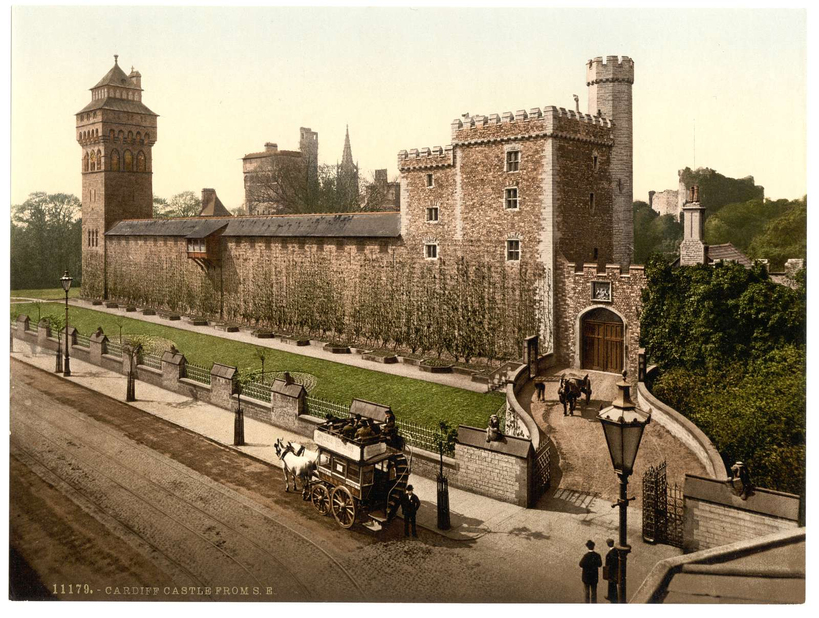 [From the southeast, Cardiff Castle, Wales]
