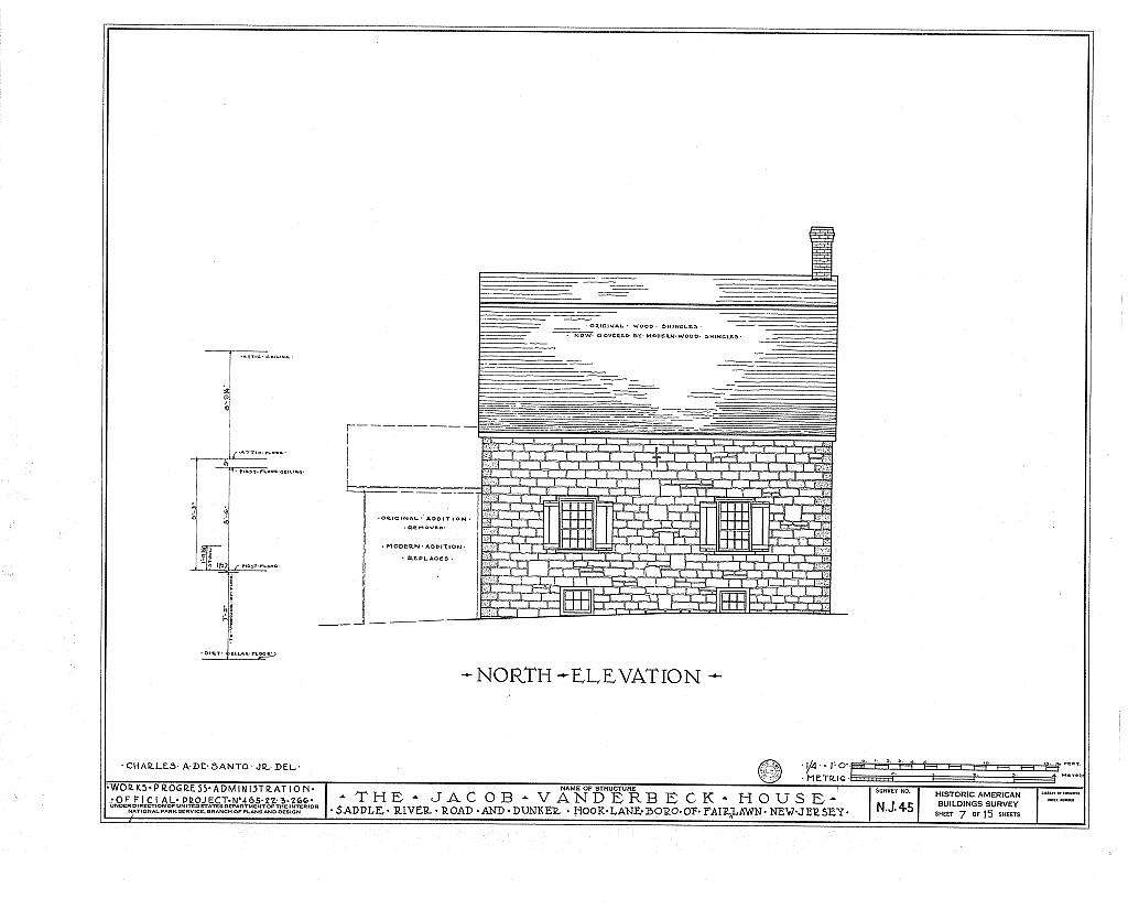 Jacob Vanderbeck House & Kitchen, Saddle River Road & Dunker Hook Lane, Fair Lawn, Bergen County, NJ
