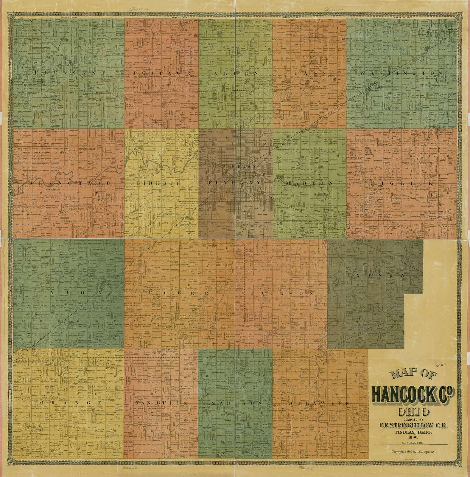 Map of Hancock Co., Ohio /