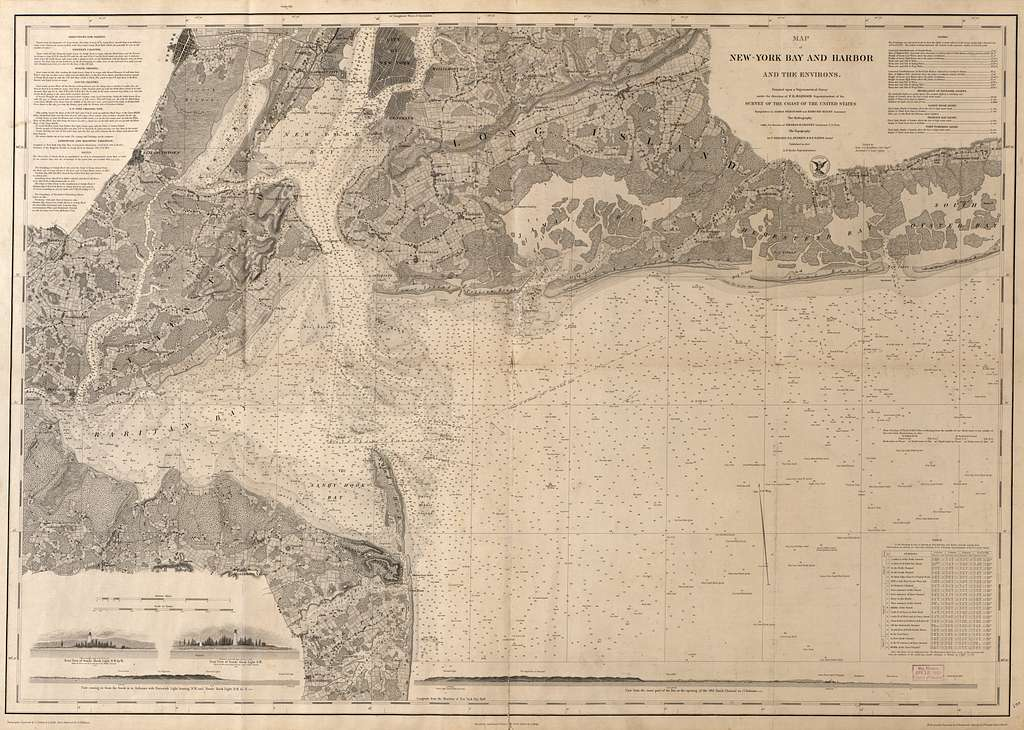 Map of New-York Bay and Harbor and the environs /