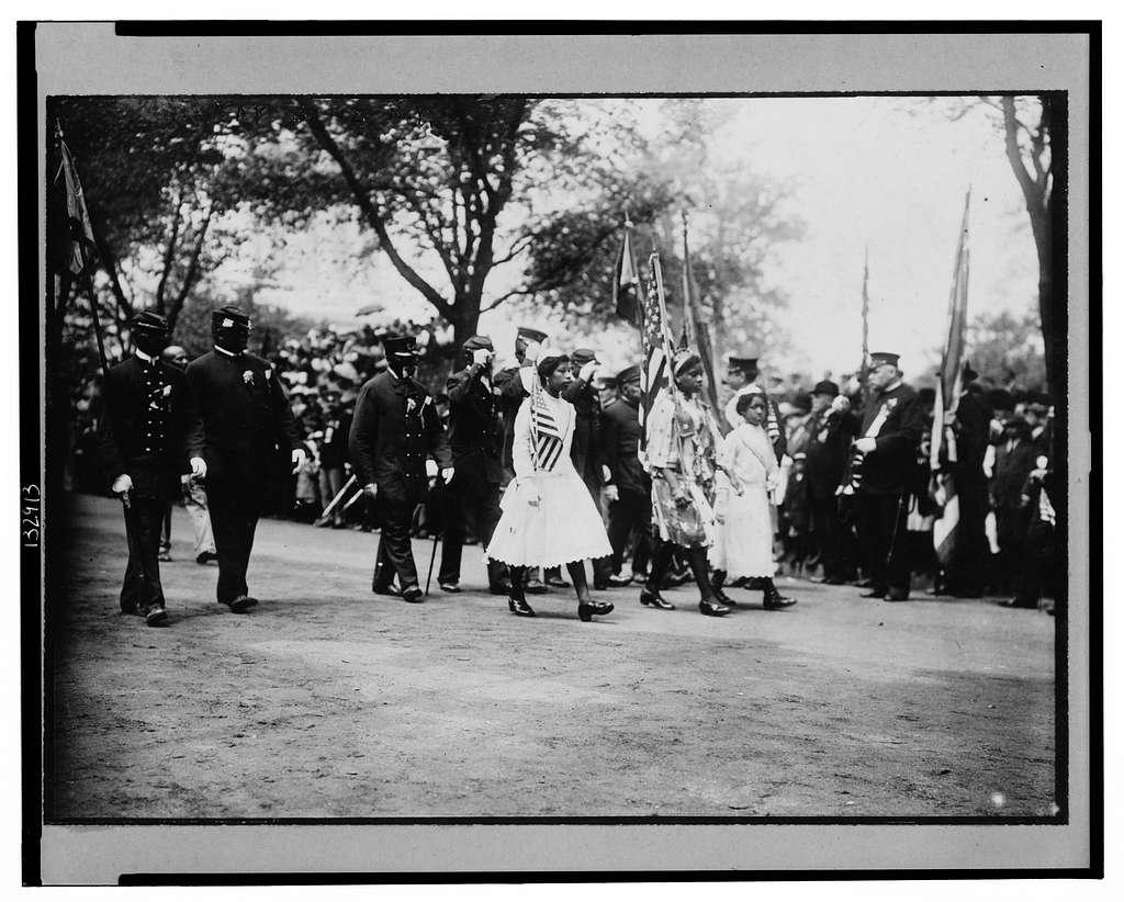 Negro G.A.R. veterans parading, New York City, May 30, 1912