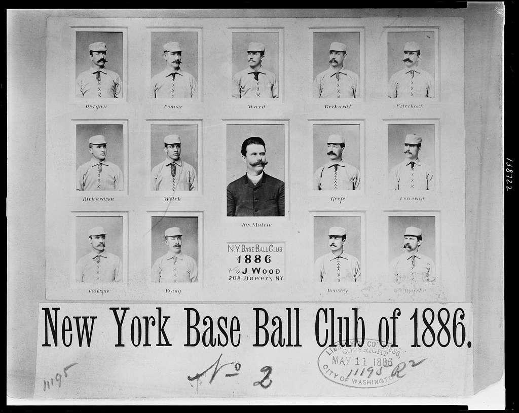 New York Base Ball Club of 1886 / Photos by John Wood, 208 Bowery, New York.