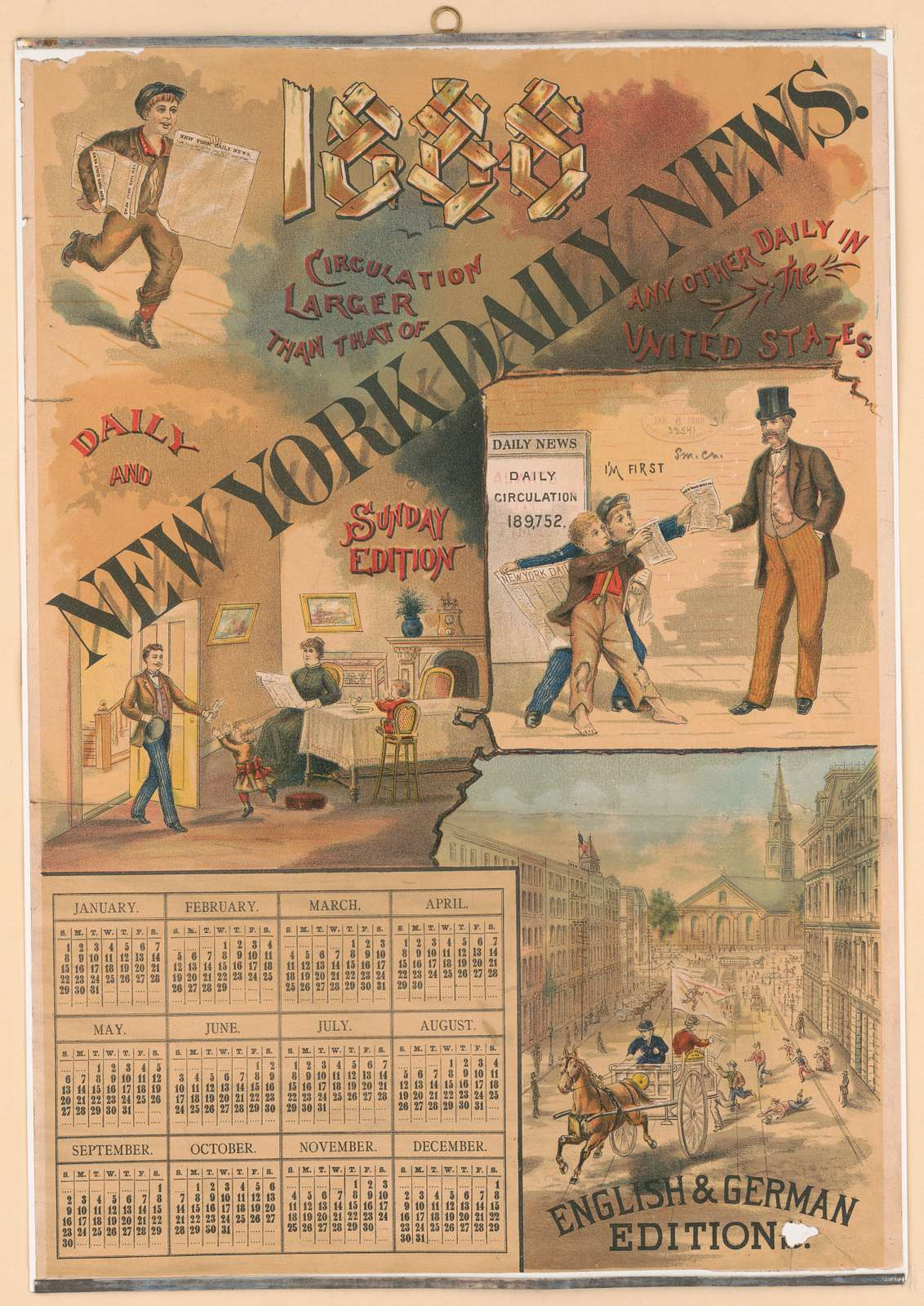 New York Daily News [calendar for 1888]