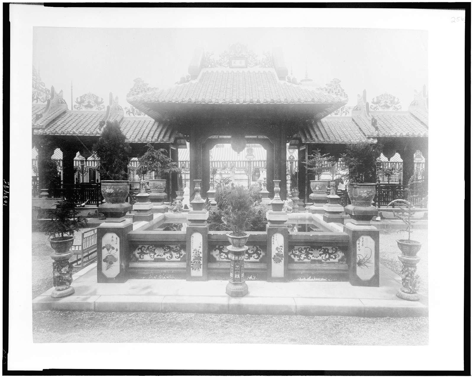 [Pavilion of Cochinchine courtyard, Paris Exposition, 1889]