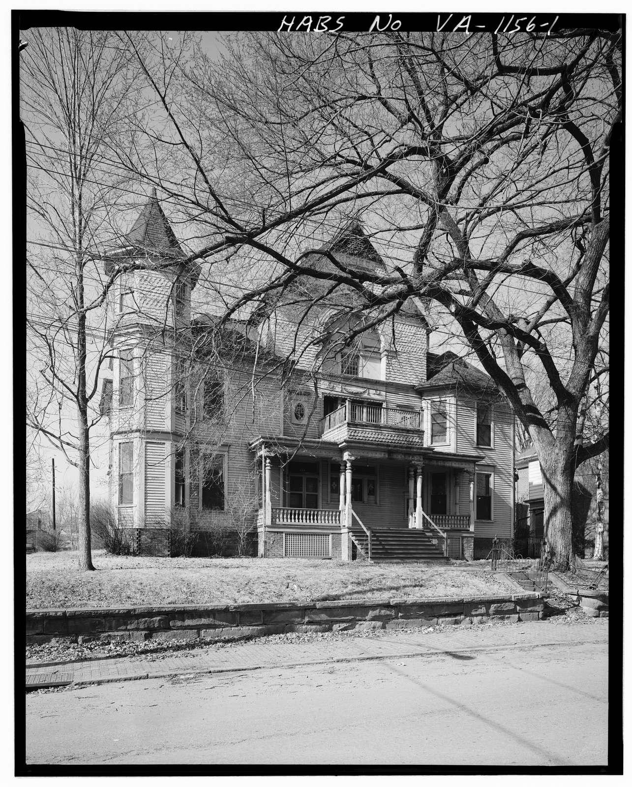Robert Withers Massie House, Federal & Tenth Streets, Lynchburg, Lynchburg, VA