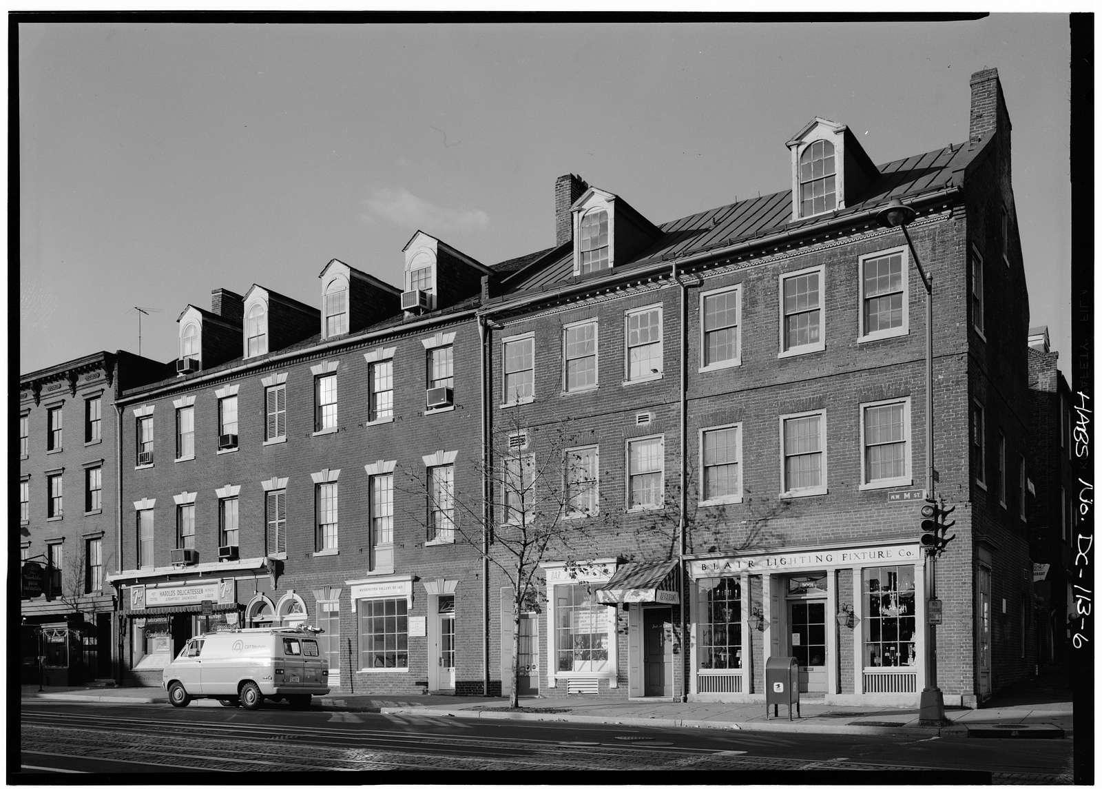 Ross & Getty Building, 3005-3011 M Street Northwest, Washington, District of Columbia, DC