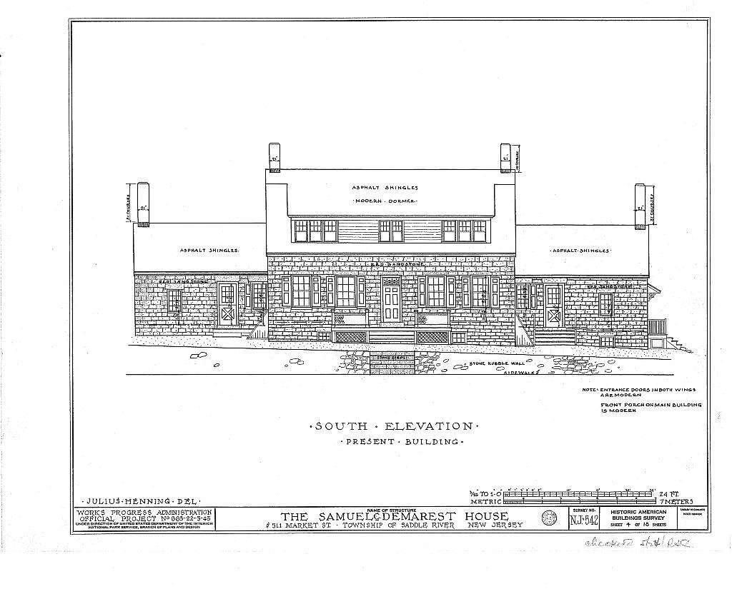 Samuel C. Demarest House, 511 Market Street, Saddle River, Bergen County, NJ