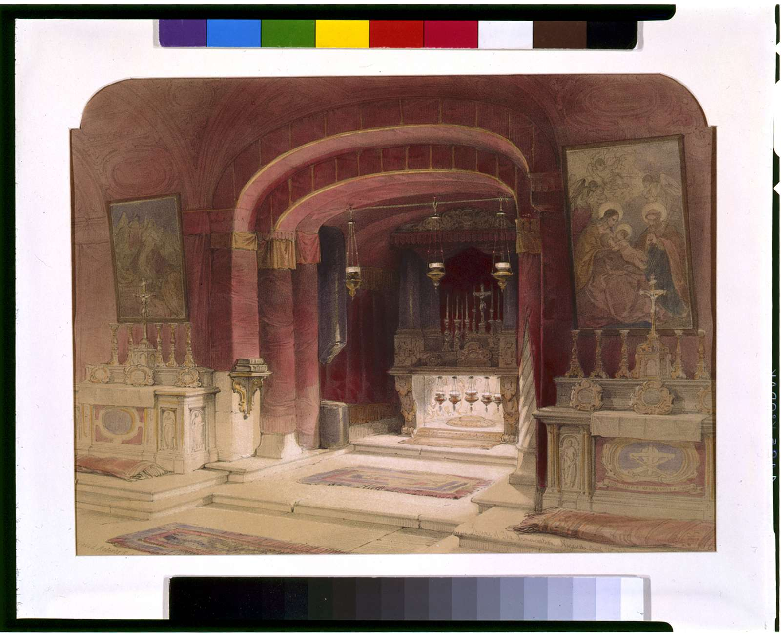 Shrine of the Annunciation Nazareth April 20th 1839 / David Roberts, R.A.