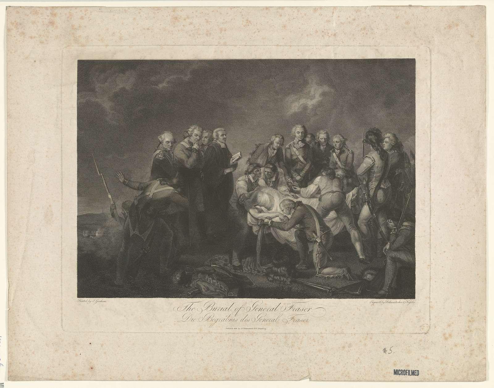 The burial of General Fraser. Die Begräbnis des General Fraser