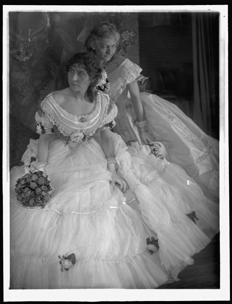 [The Gerson sisters in costumes for the Crinoline Ball held in New York City]