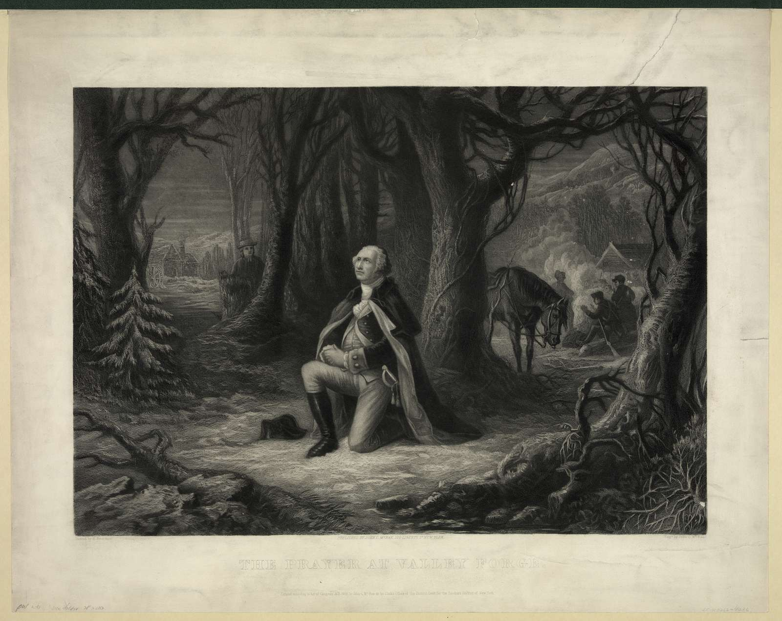 The prayer at Valley Forge / painted by H. Brueckner ; engd. by John C. McRae.