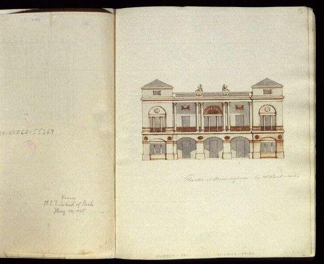 [Theatre Royal, New Street, Birmingham, England. Elevation rendering]