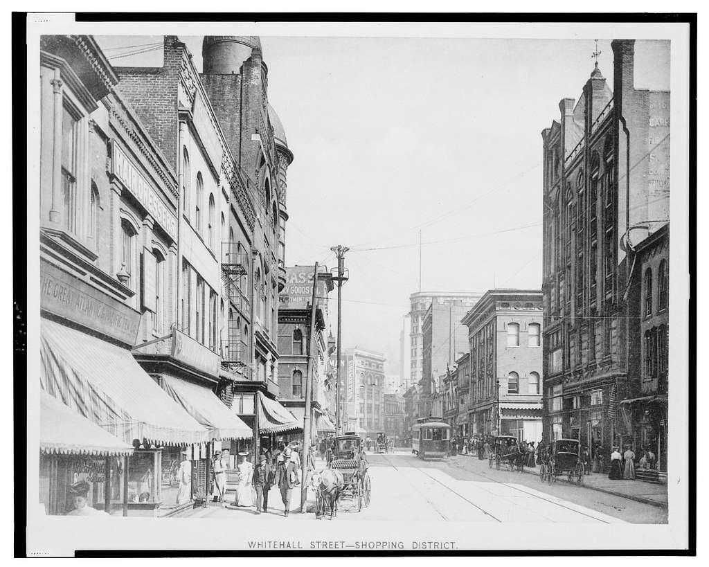 Whitehall Street - shopping district