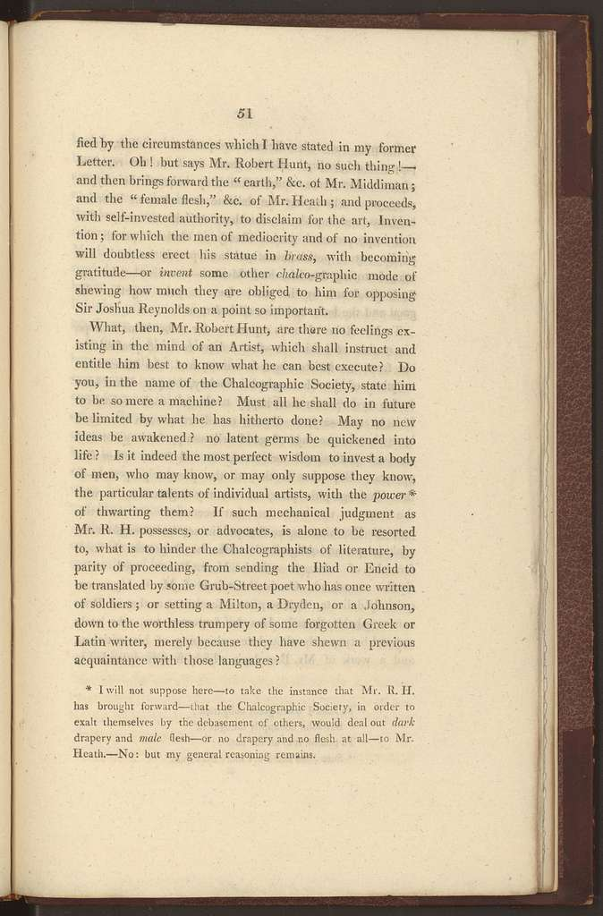 A letter to a member of the Society for Encouraging the Art of Engraving in objection to the scheme of patronage now under consideration, and written with a view to its imp[r]ovement