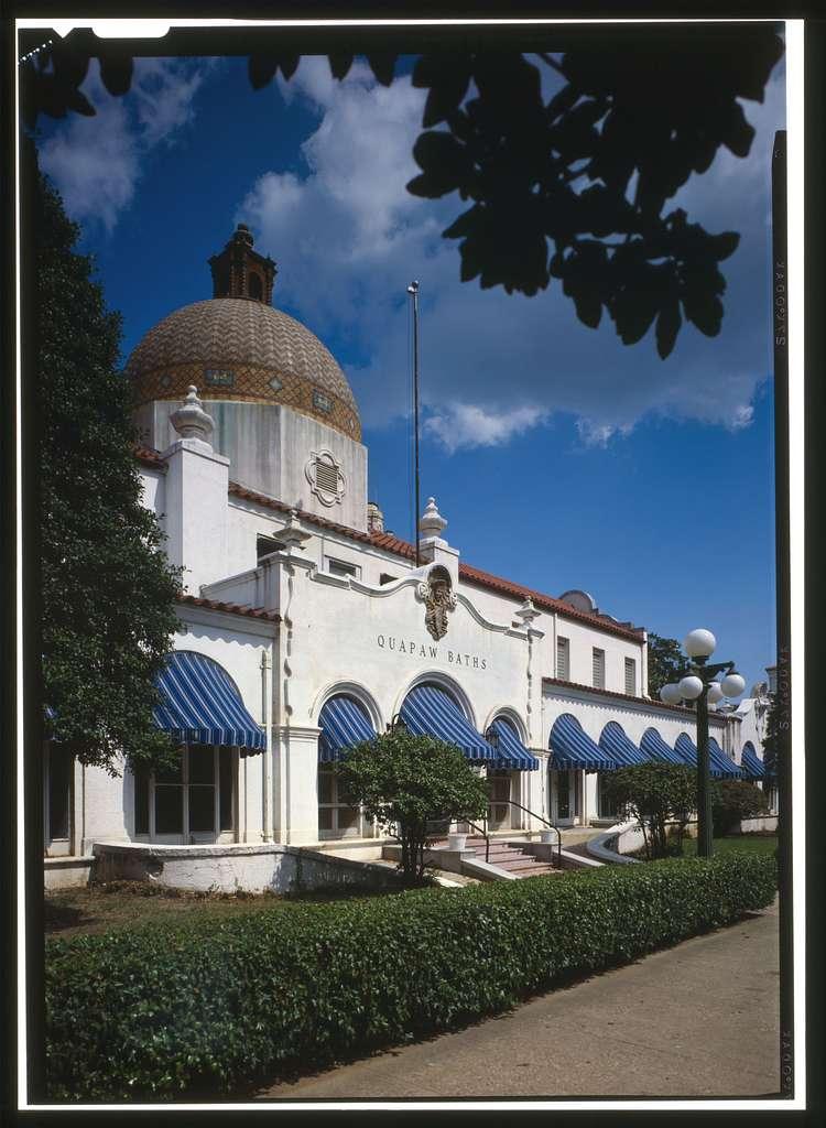 Bathhouse Row, Quapaw Bathhouse, Central Avenue, Hot Springs, Garland County, AR