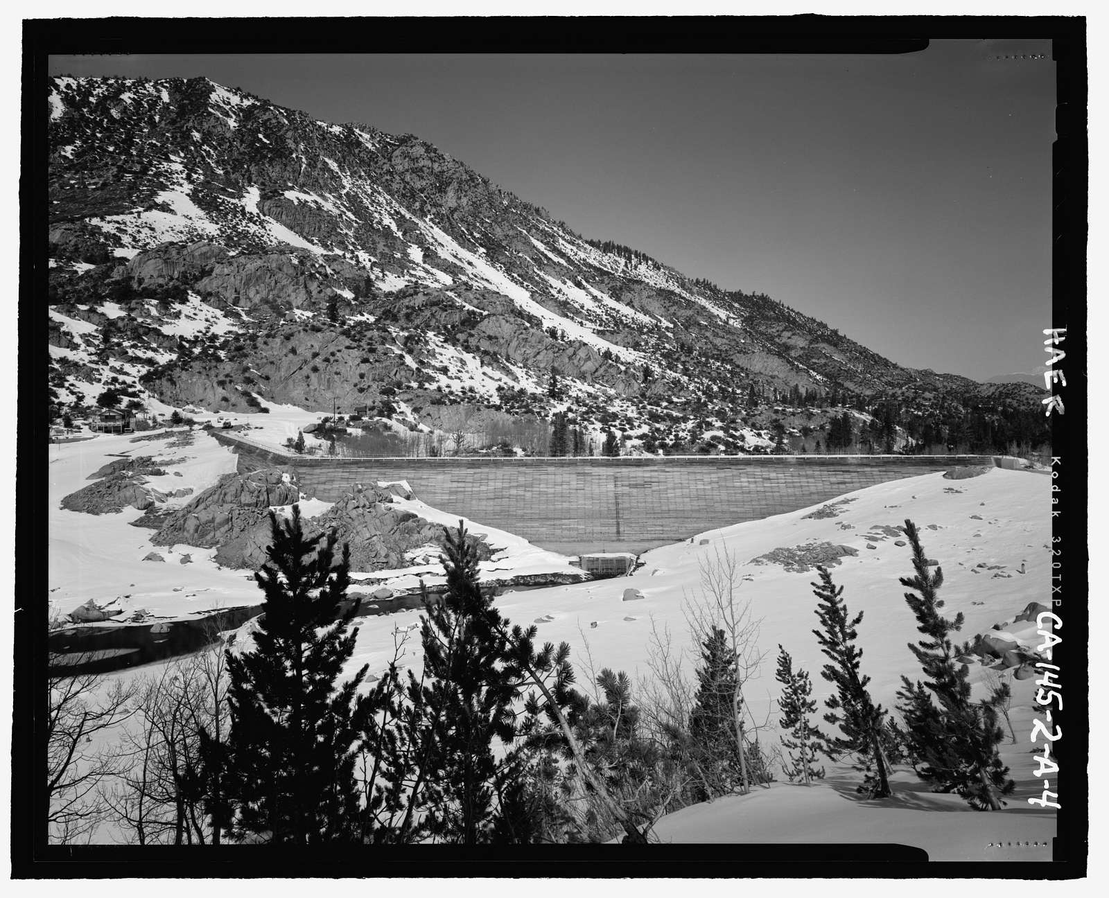 Bishop Creek Hydroelectric System, Plant 2, Lake Sabrina Dam, Bishop Creek, Bishop, Inyo County, CA