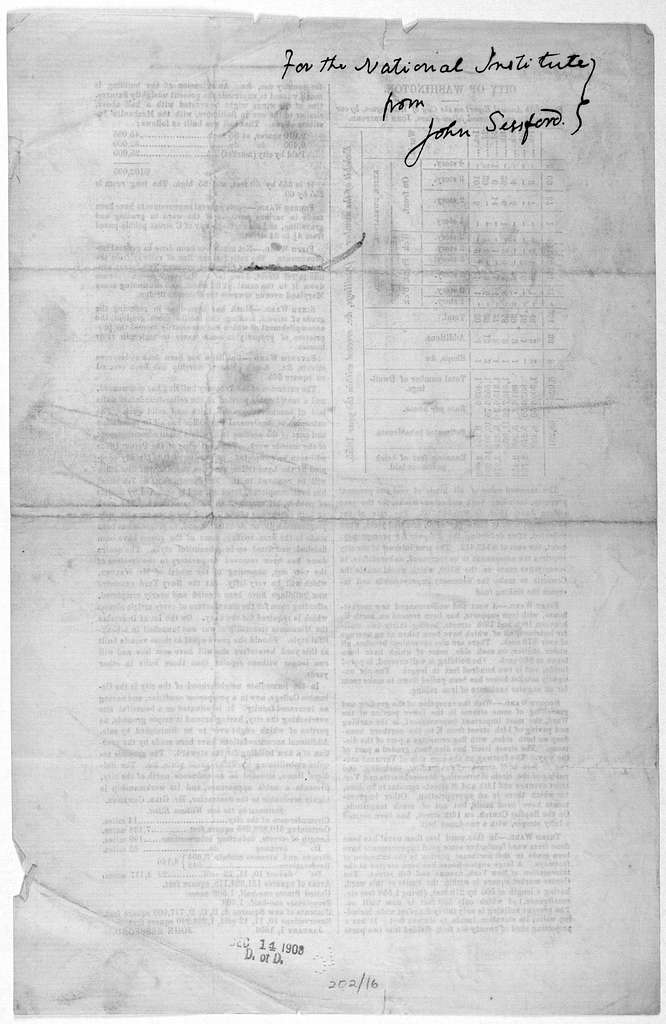 City of Washington, Forty-fifth annual report on the City of Washington, by our venerable and esteemed fellow-citizen, John Sessford .... January 1, 1856. [Washington, D.C. 1856].