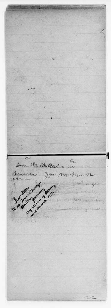 Clara Barton Papers: Letterbooks, 1876-1911; Unbound copies; 1910, July-1911, Apr.