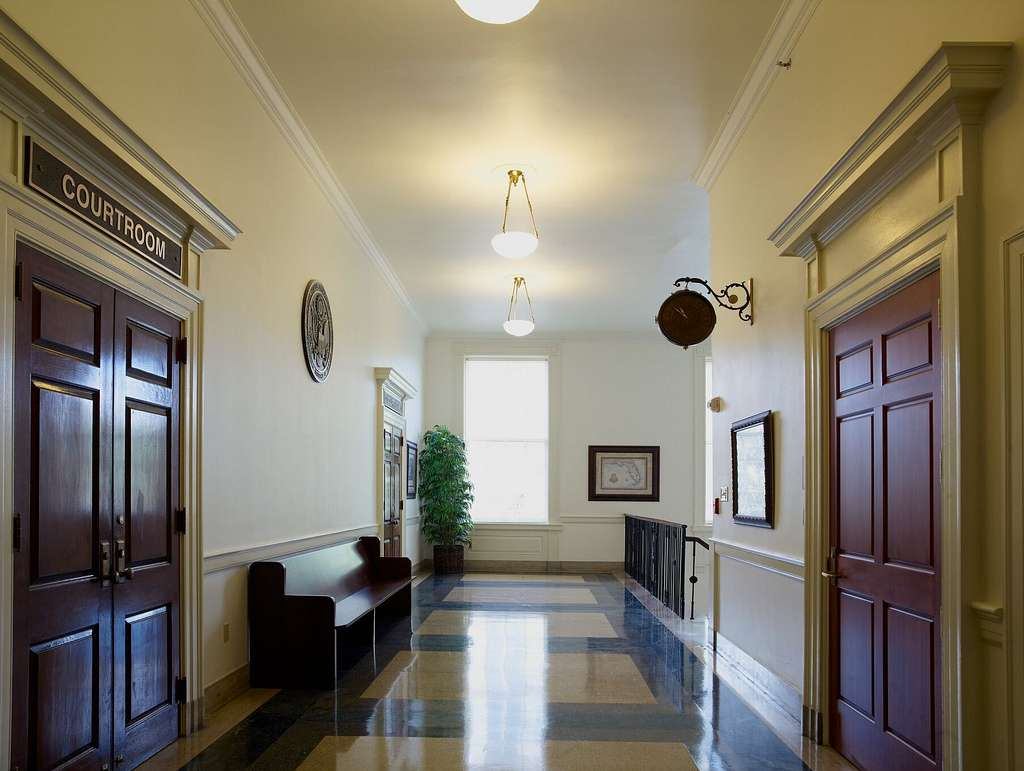 Courtroom corridor, U.S. Courthouse, Tallahassee, Florida