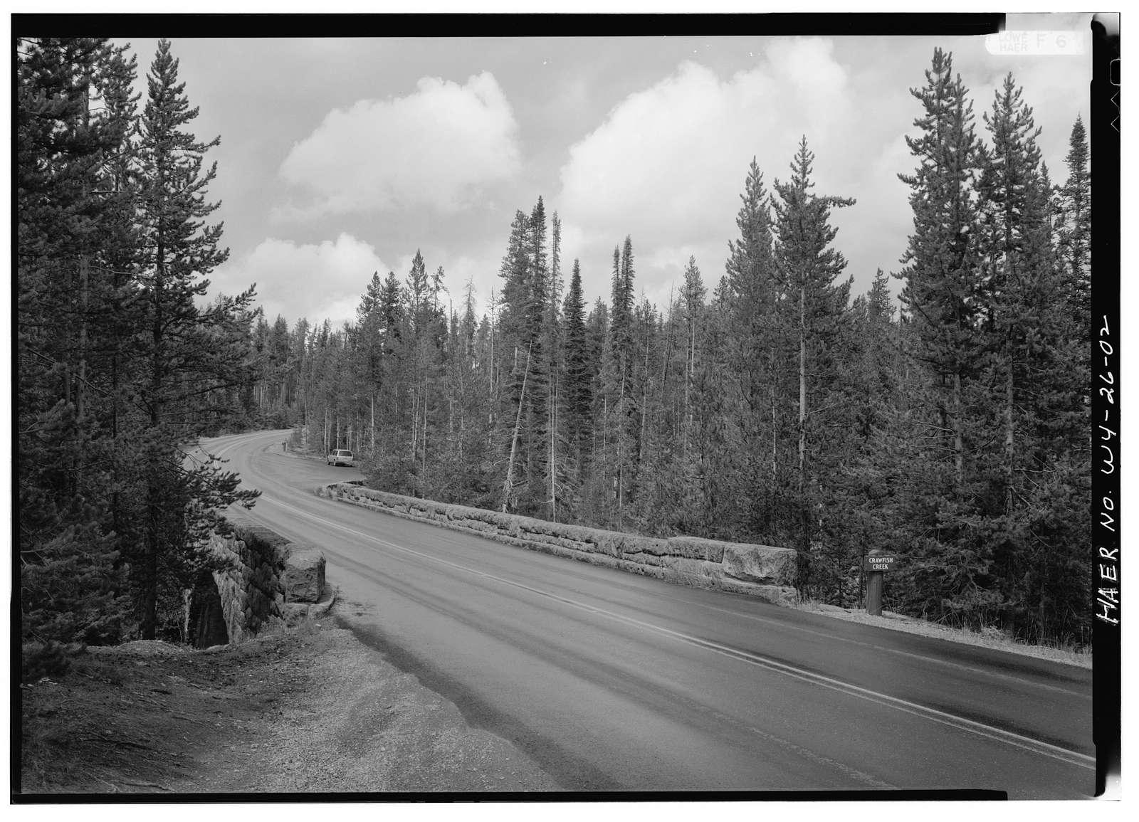 Crawfish Creek Bridge, Spanning Crawfish Creek at South Entrance Road, Lake, Teton County, WY