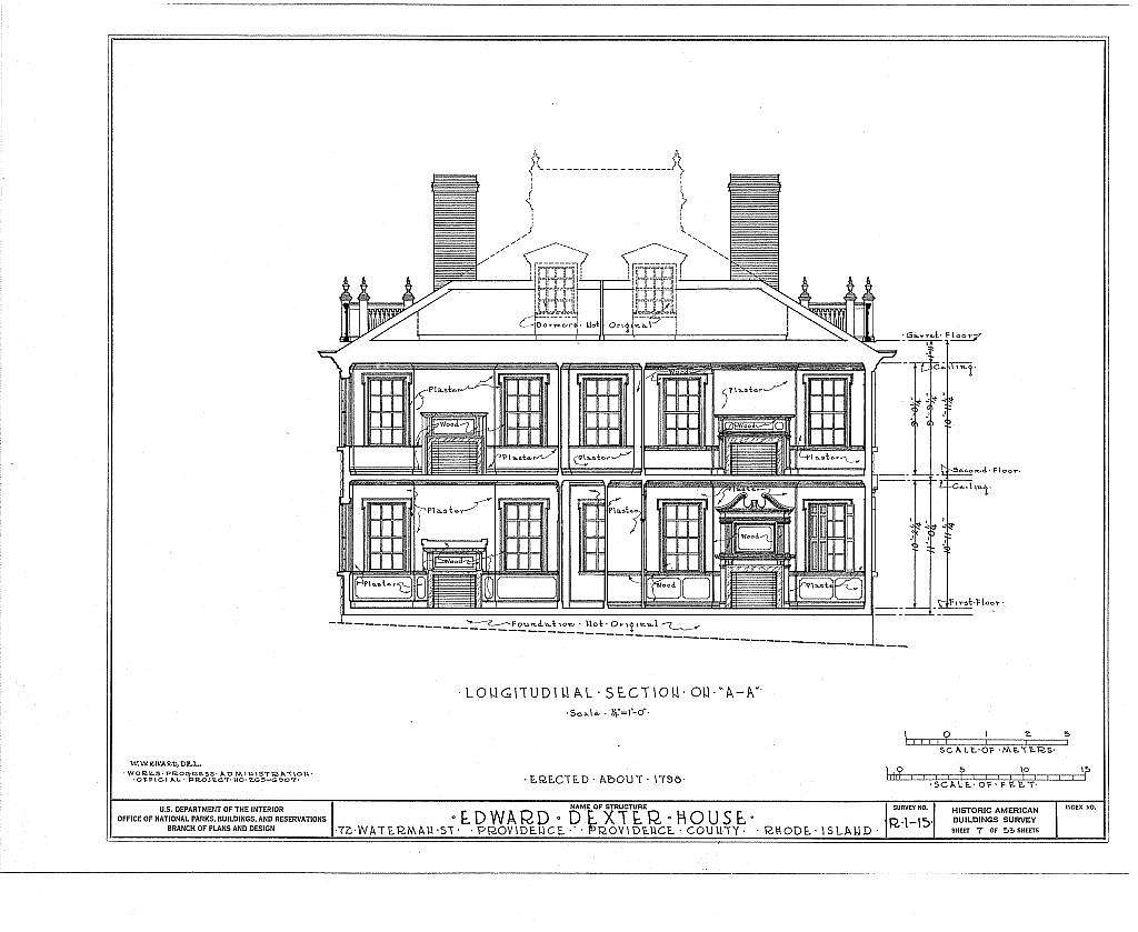 Edward Dexter House, 72 Waterman Street (moved from George Street), Providence, Providence County, RI