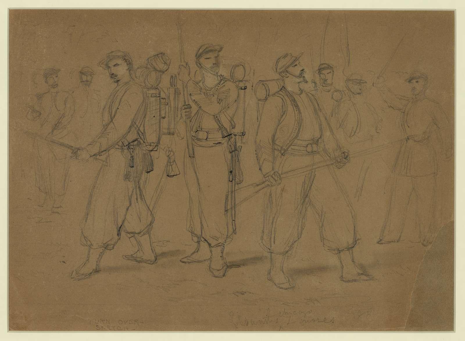 Elsworths [sic] Chicago Zouaves, 1861