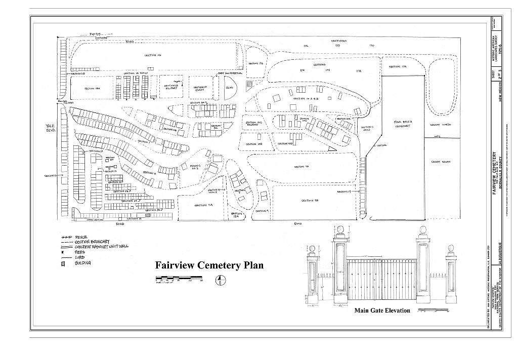Fairview Cemetery, 700 Yale Boulevard Southeast, Albuquerque, Bernalillo County, NM