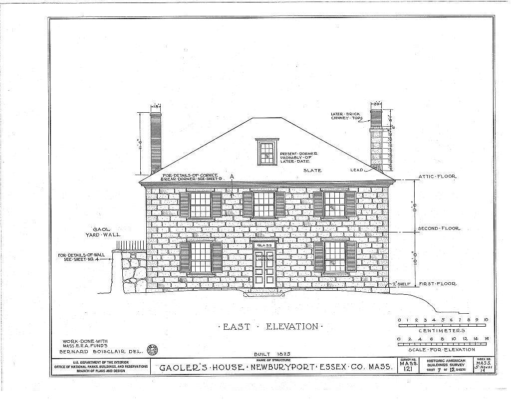 Gaol, Gaoler's House & Barn, Auburn & Vernon Streets, Newburyport, Essex County, MA