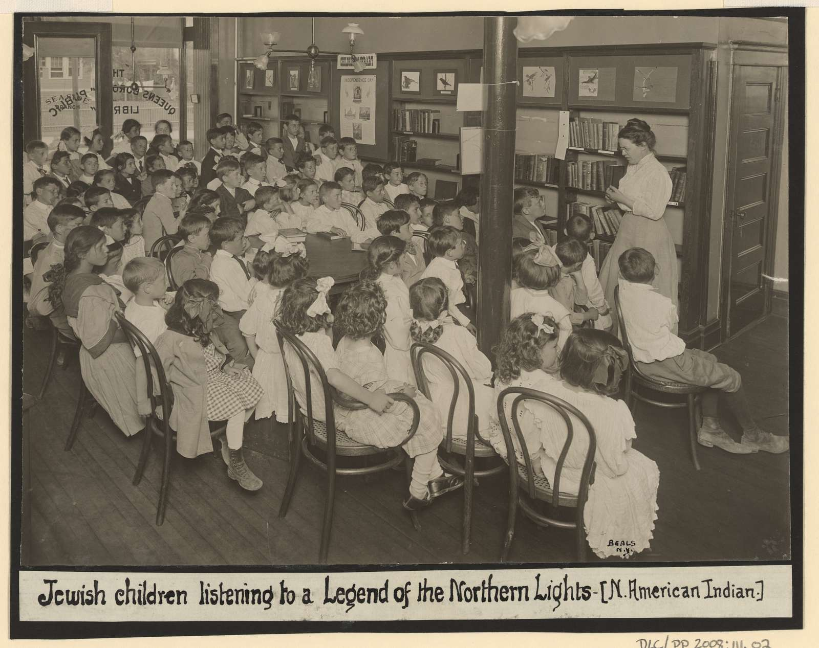 Jewish children listening to A Legend of the Northern Lights (N. American Indian) / Beals, N.Y.