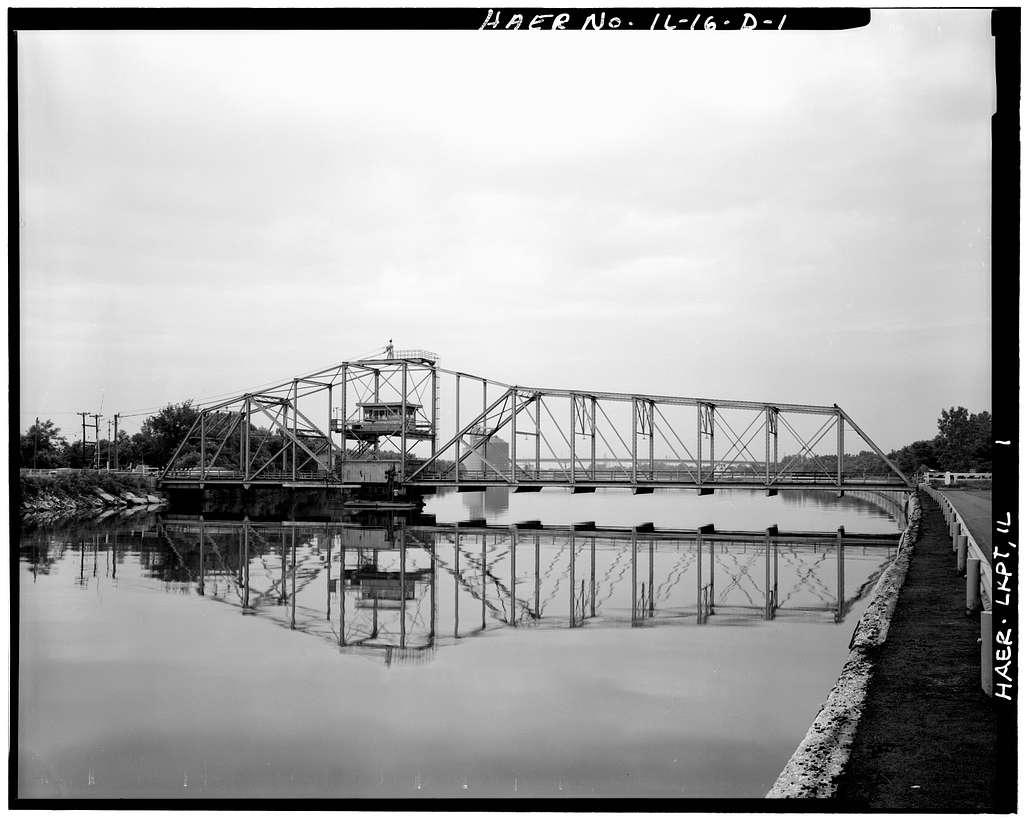 Lockport Historic District, Chicago Sanitary & Ship Canal, Swing Bridge, Sixteenth Street, Lockport, Will County, IL