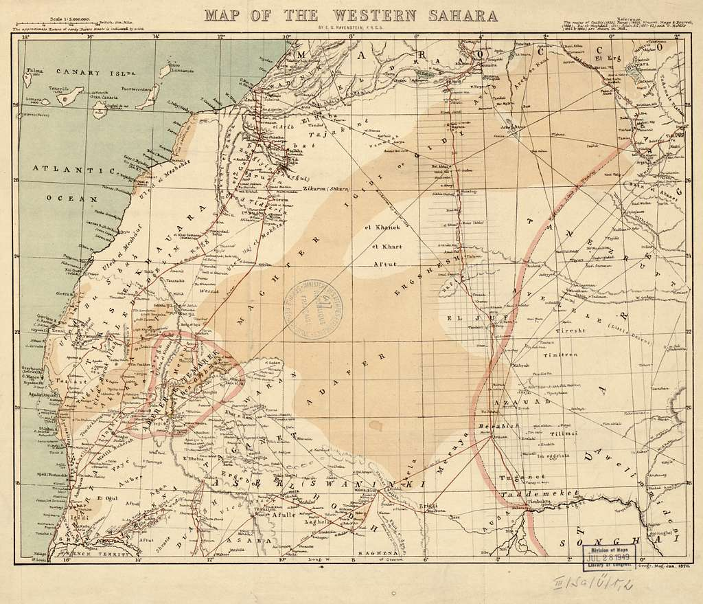 Map of the western Sahara / - PICRYL Public Domain Image Sahara Map on arabian peninsula map, sudan map, namib map, congo basin map, great rift valley map, atlas mountains map, mecca map, gobi map, lake tanganyika map, zambezi river map, zagros mountains map, red sea map, kalahari map, madagascar map, desert map, sahel map, cape of good hope map, taurus mountains map, atacama map, africa map,