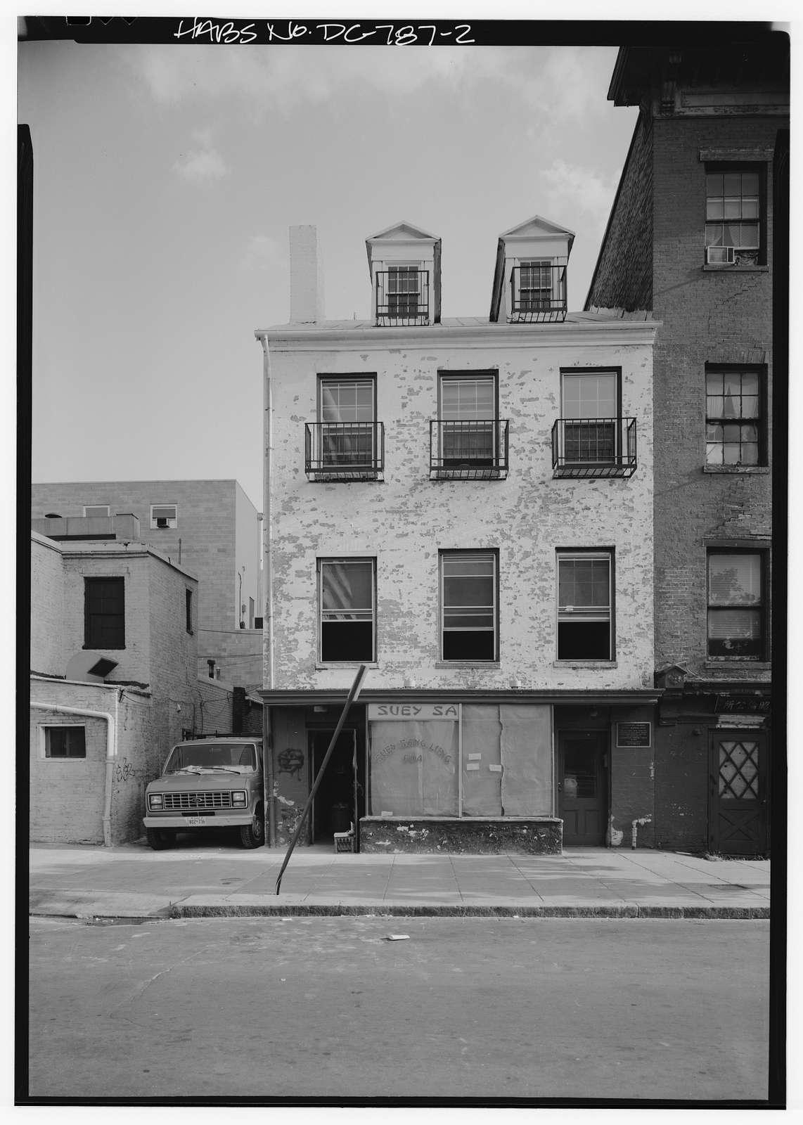 Mary Surratt Boarding House, 604 H Street, Northwest, Washington, District of Columbia, DC