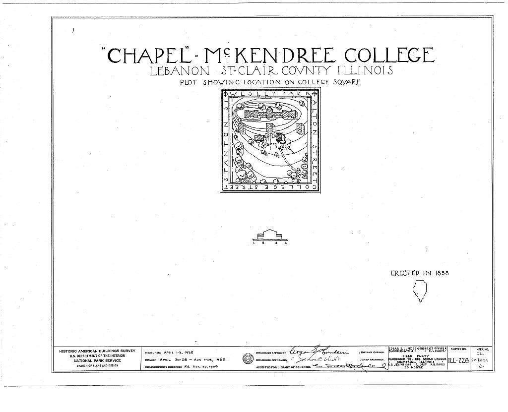 McKendree College, Chapel, College Square, Lebanon, St. Clair County, IL