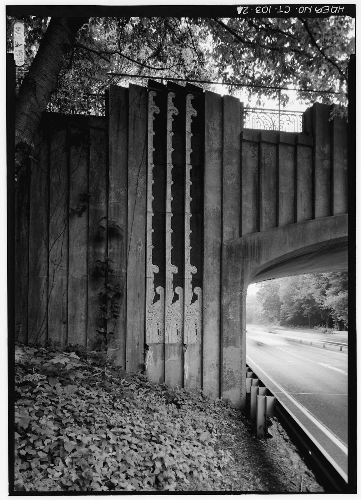 Merritt Parkway, North Avenue Bridge, Spanning Merritt Parkway, Westport, Fairfield County, CT