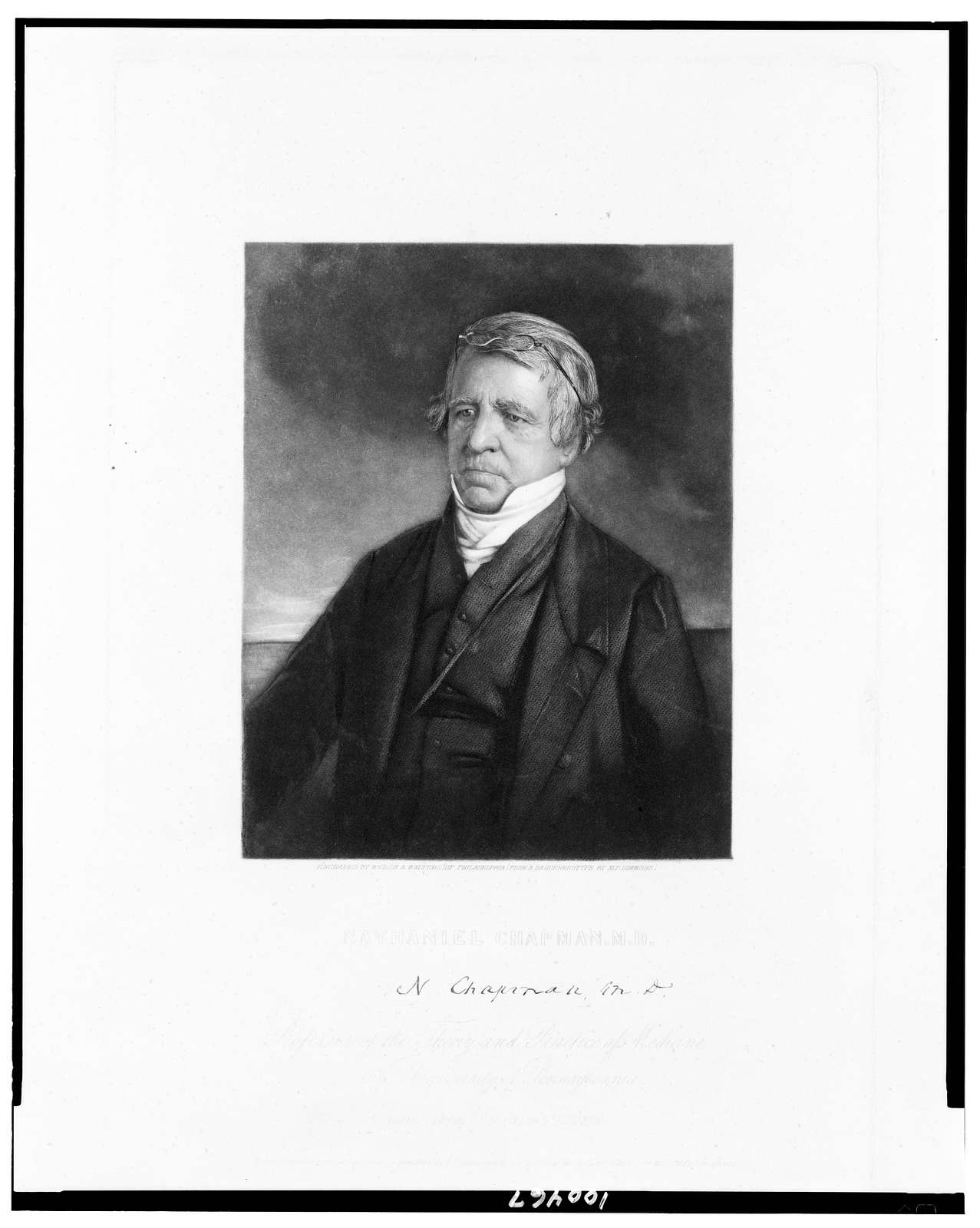 Nathaniel Chapman, M.D. / engraved by Welch & Walters (of Philadelphia) ; from a daguerreotype by M.P. Simmons.