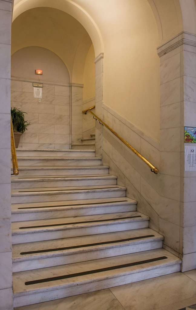 Stairway at the Alton Lennon Federal Building and U.S. Courthouse, Wilmington, North Carolina
