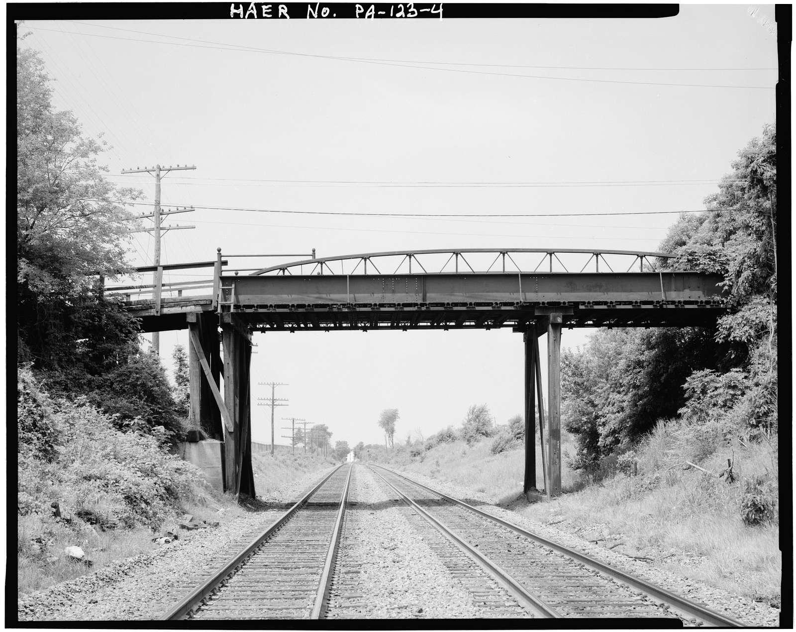 Tank Farm Road Bridge, Tank Farm Road crossing Reading Railroad tracks, Emmaus, Lehigh County, PA