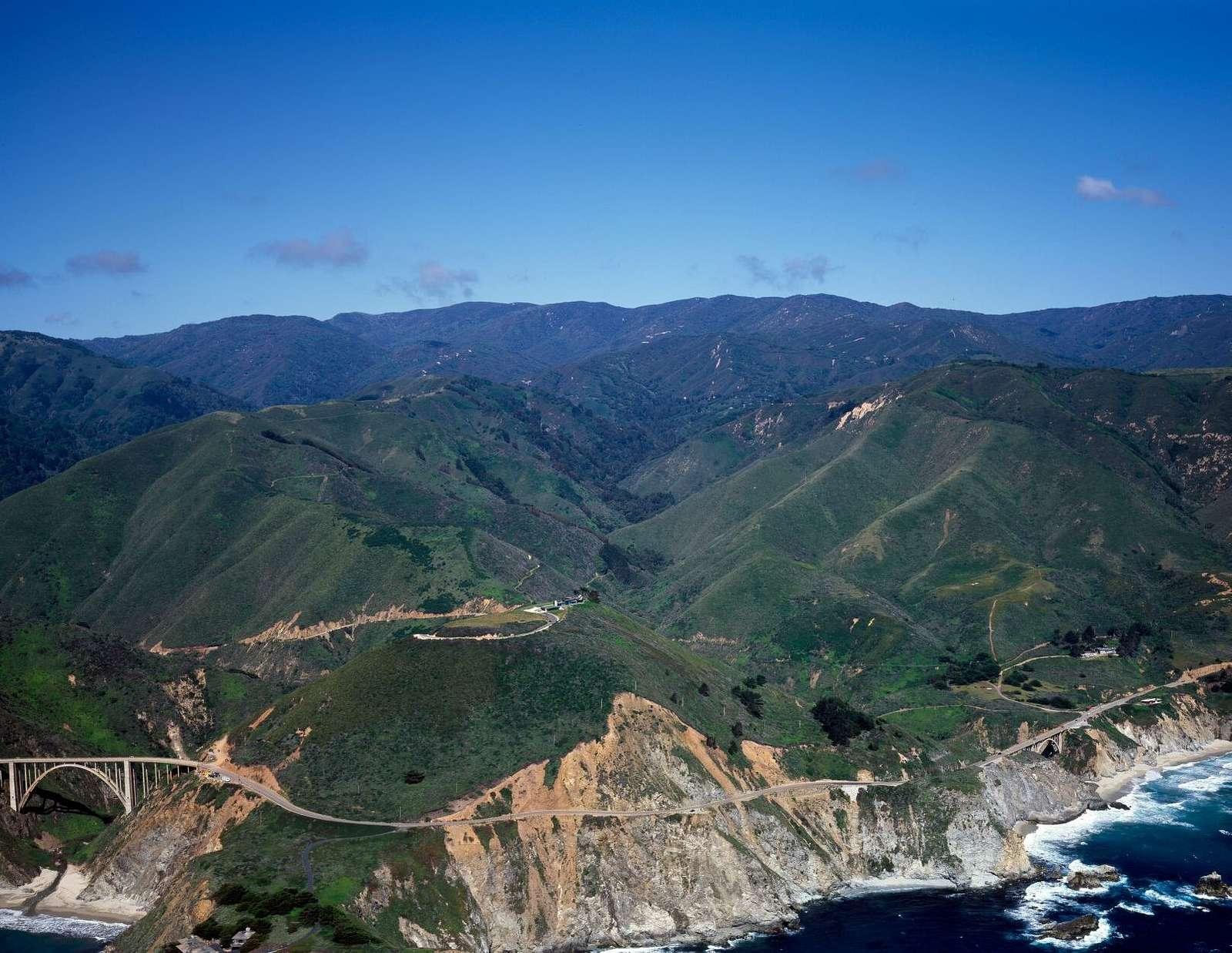 The California coastline near Big Sur