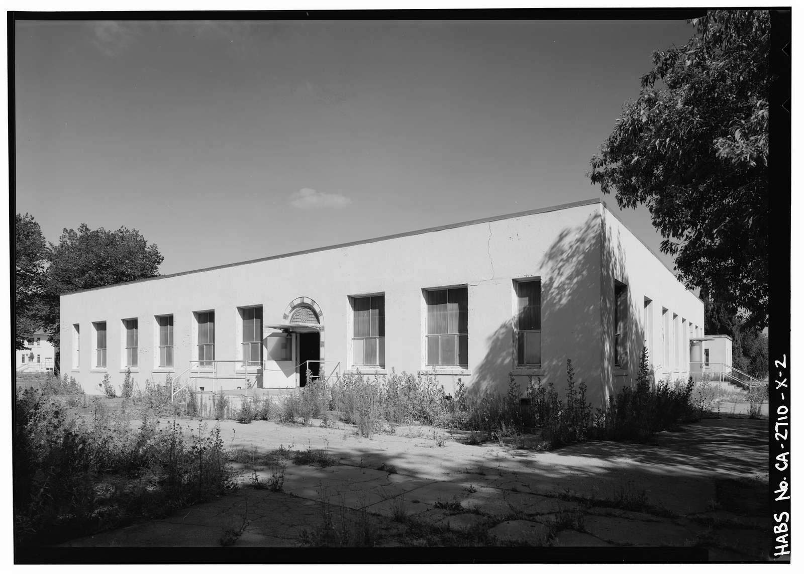 Agnews State Hospital, Occupational Therapy Building, Second Street near Avenue A, Santa Clara, Santa Clara County, CA