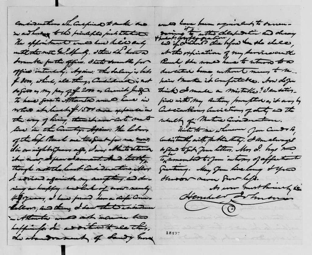 Alexander Hamilton Stephens Papers: General Correspondence, 1784-1886; 1880, Jan. 31-Dec. 11