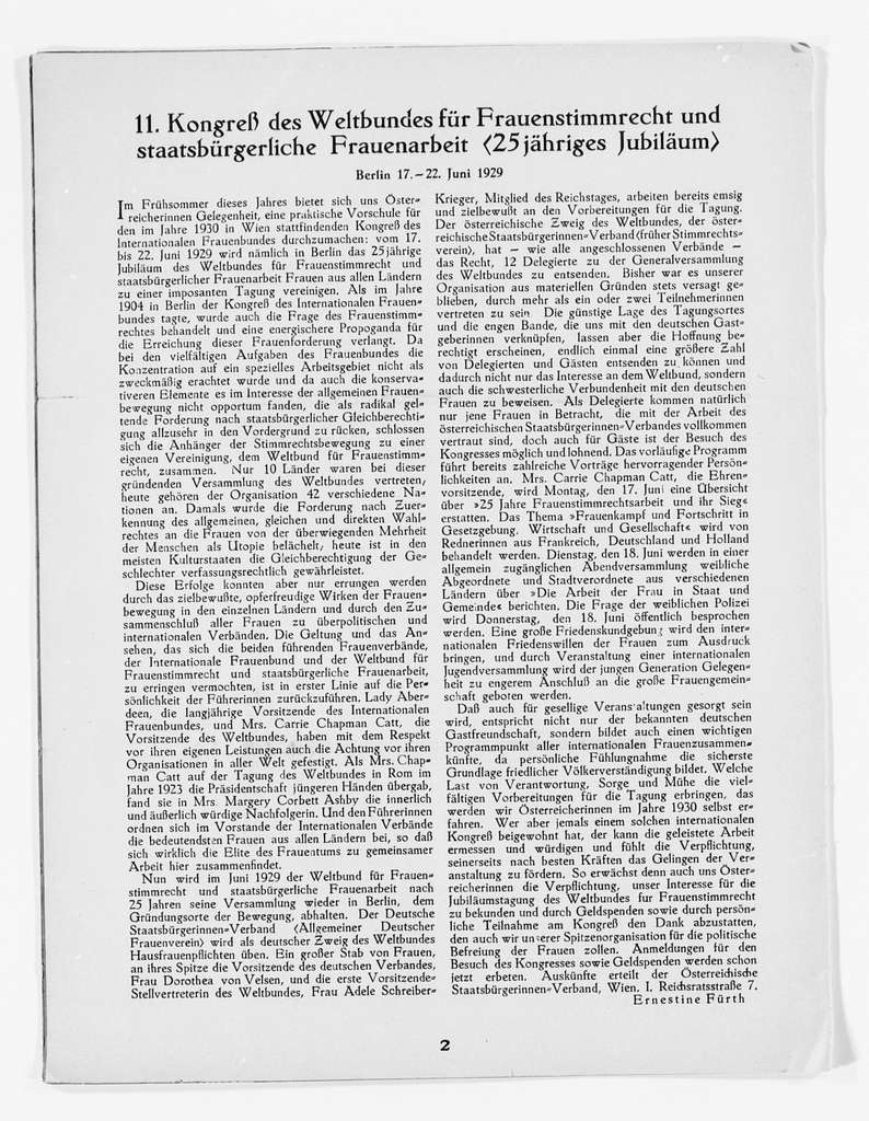 Carrie Chapman Catt Papers: Subject File, 1848-1950; Biographical papers; Carrie Chapman Catt (1944), by Mary Gray Peck; Newspaper clippings and other papers, 1944-1950