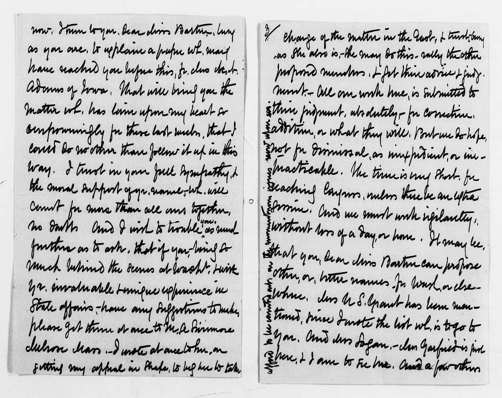 "Clara Barton Papers: General Correspondence, 1838-1912; ""Sa-Sh"" miscellaneous, 1865-1911"