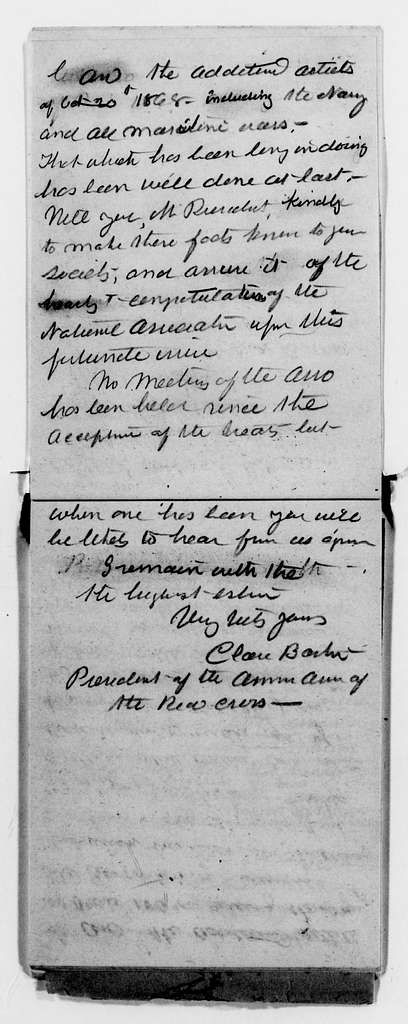 Clara Barton Papers: Letterbooks, 1876-1911; Unbound copies; 1882