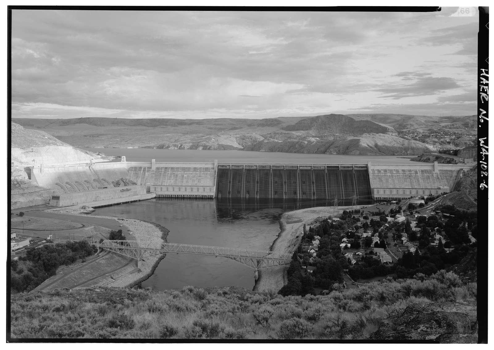 Columbia River Bridge at Grand Coulee Dam, Spanning Columbia River at State Route 155, Coulee Dam, Okanogan County, WA