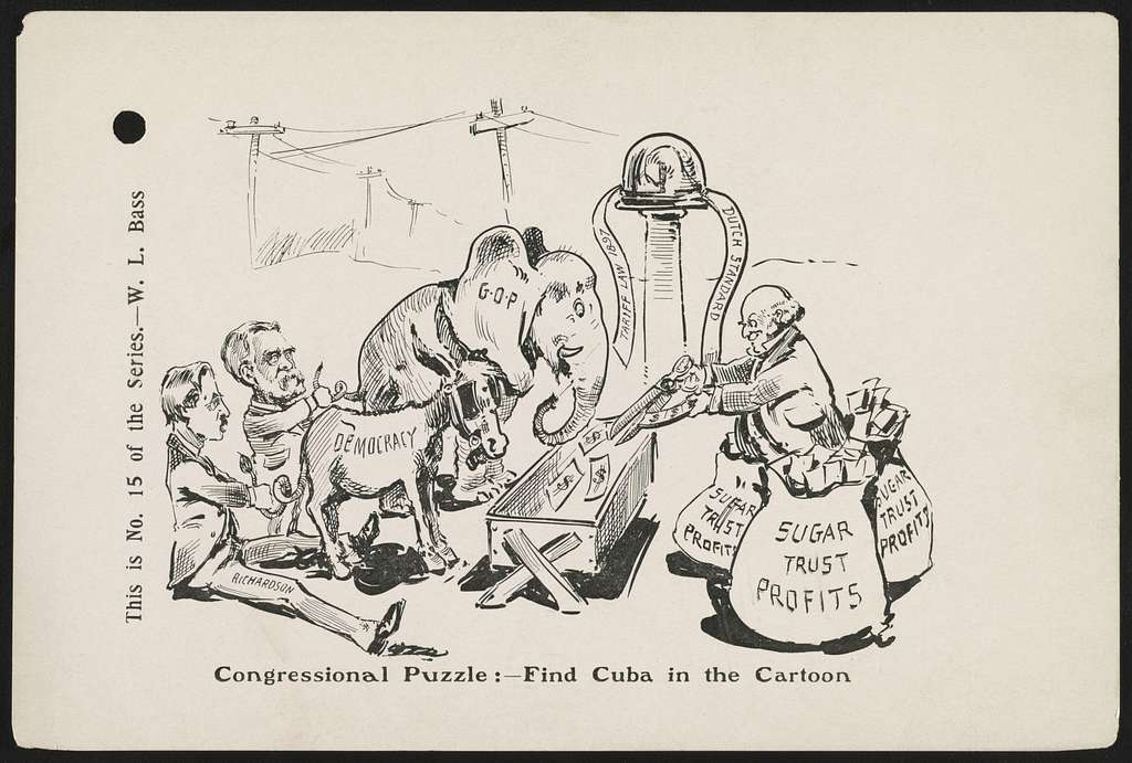 Congressional puzzle: - find Cuba in the cartoon