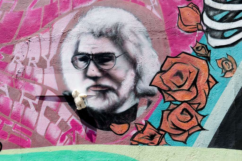 Detail of mural located in the Haight-Ashbury neighborhood, San Francisco, California