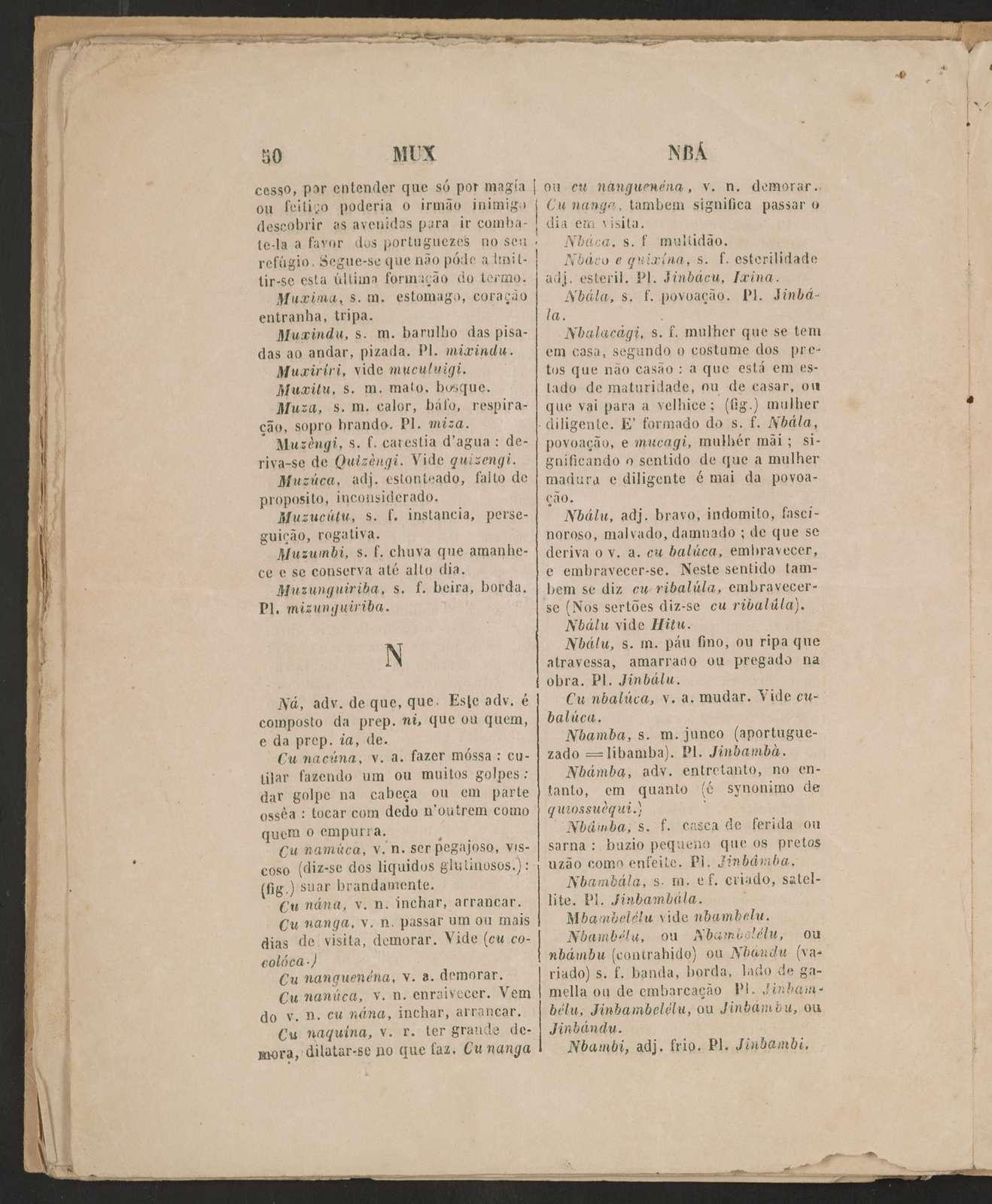 Diccionario da lingua nbundu ou ngolense ...