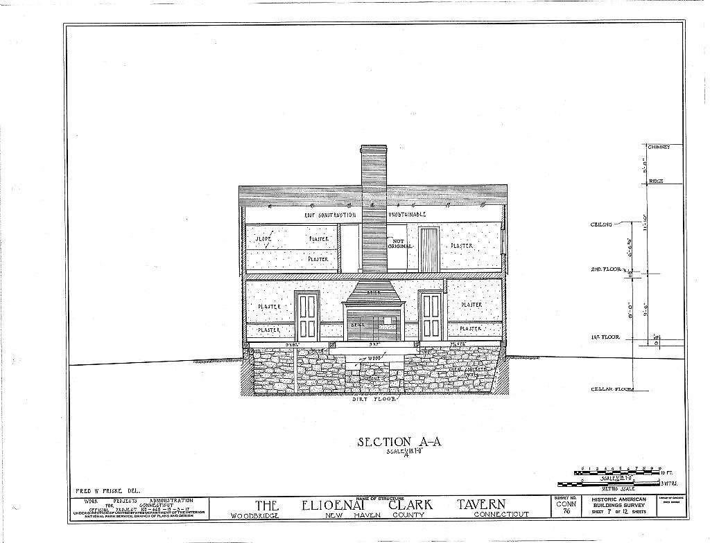 Elioenai Clark Tavern, Old Litchfield Turnpike, Woodbridge, New Haven County, CT