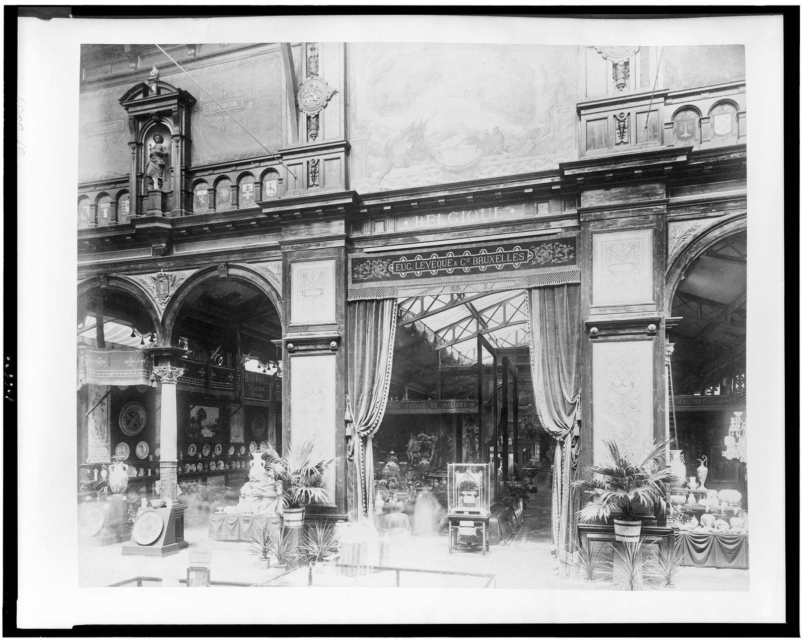 [Entrance to the Belgian exhibit, Palace of Diverse Industries, Paris Exposition, 1889]