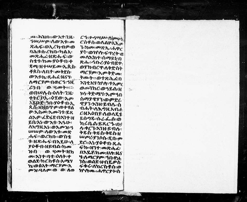 Ethiopic 3. Selections from Akolouthia. 14th15th cent. 16 f. Pg. 6 ft